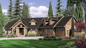 Bi Level Floor Plans With Attached Garage by Craftsman Ranch With Angled Garage Hwbdo77277 Ranch From House