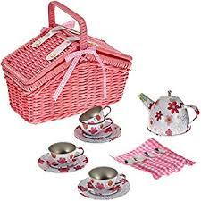 Picnic Basket Set Molly Dolly Molly Dolly Wooden Picnic Basket Set Amazon Co Uk
