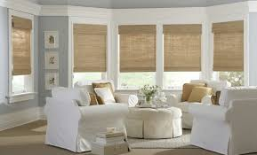 Fabric Blinds For Windows Ideas Beauteous Sun Room Design With White Fabric Arm Chairs Combined