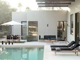 a striking danish modern outdoor furniture collection design milk