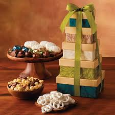 david harry s gift baskets the tower of sweet treats is a gift tower that delights inside are