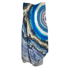 alexander mcqueen agate print silk satin bustier dress m buy