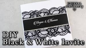 wedding invitations black and white how to make an easy black and white invitation diy wedding
