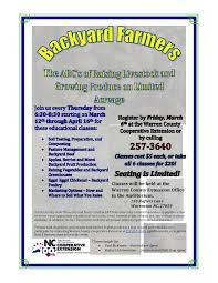 backyard farmers classes north carolina cooperative extension