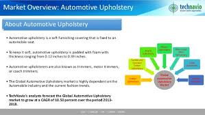 Upholstery Industry Global Automotive Upholstery Market 2014 2018