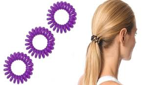 hair ties up to 65 on phone coil hair ties 30 pack groupon goods