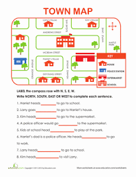 learning directions worksheet education com
