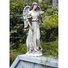 angel garden decor wayfair with dove statue by roman inc loversiq