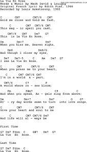 wedding dress chord song lyrics with guitar chords for la vie en louis