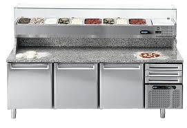 mobilier de cuisine professionnel meuble pizza refrigere restock