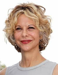 cute hairstyles for short blonde curly hair for older women