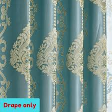 Curtain Drapes Blackout Blue Teal Sheer Drape Curtain Fabric Eyelet Pleat
