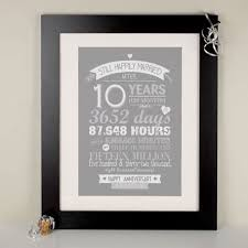 10 year wedding anniversary gift ideas wedding anniversary tin gifts tbrb info