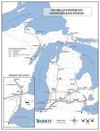 Michigan Railroad Map by Passenger Rail Macatawa Area Coordinating Council