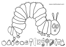 hungry caterpillar coloring pages free kids