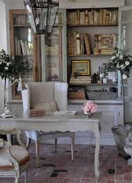 french country cottage painted library cupboard countryside