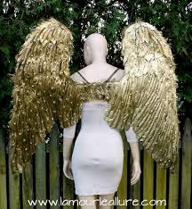 angel wings halloween extra large rhinestone gold angel wings cosplay dance costume rave