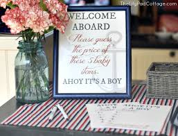 it s a boy baby shower ideas ahoy it s a boy baby shower the lilypad cottage