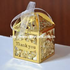 gold favor bags empty chocolate boxes laser cut light brown fancy kraft gift boxes