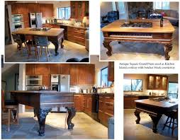 a grand kitchen island made from a grand piano homejelly