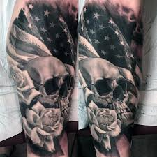 Skull Arm - skull flag tattoos tattoos