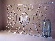 Door Monogram Decoration Vintage Wrought Iron Screen Door Protector Decorative Metal Grille