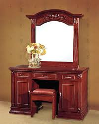 furniture reddish brown wooden dressing table chair mirror frame