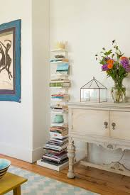 tall narrow bookcase in living room farmhouse with best color for
