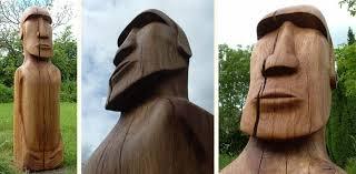 sessile oak moai garden statue