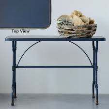 Metal Console Table Navy Hued Metal Console Table Antique Farmhouse