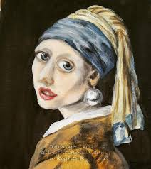 pearl earring painting girl with a pearl earring recreation in acrylic all right choices