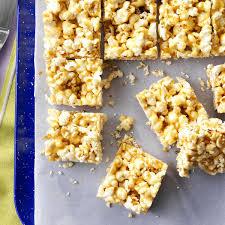 peanut butter popcorn bars recipe taste of home