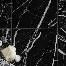 black marble effect marble wall u0026 floor tile pack of 5 l 305mm