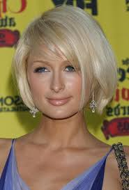 parisian bob hairstyle paris hilton cute short side parted bob hairstyle with bangs