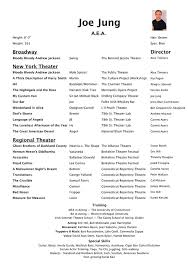 Theatre Resume Examples by Acting Resume Examples 2016 Free Resume Templates