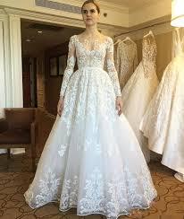 zuhair murad bridal 2017 new zuhair murad wedding dresses sheer sleeves lace