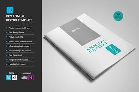 ind annual report template annual report template v13 brochure templates creative market