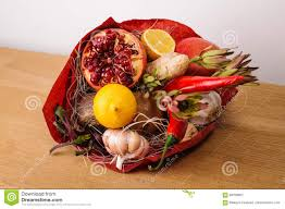 bouquet of fruits the original edible vegetable and fruit bouquet with card