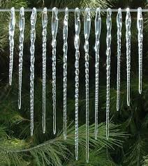 glass icicles ornaments blown