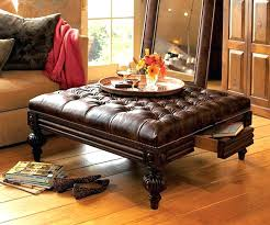 large leather tufted ottoman leather tufted ottoman oxford tufted black leather ottoman end table