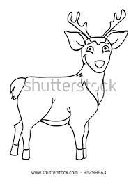 deer outline illustration stock images royalty free images