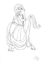 tangled rapunzel sketch ballerina222 deviantart