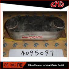 china cummins k19 engine oil cooler core 4095097 3804935 manufacturers