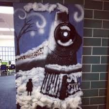 the polar express door decor celebrating holidays in the