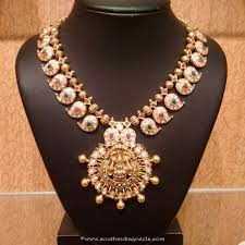gold stones necklace images Gold cz stone mango mala necklace collections pinterest jpg