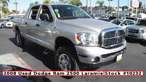 dodge trucks used 2008 used dodge ram 2500 mega cab 4x4 for sale in san diego at