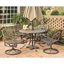 Swivel Patio Dining Chairs Home Styles Biscayne 48 In Bronze Swivel Patio Dining Set U2013 Seats