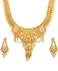 golden necklace women images Real look party wedding wear golden necklace sets for women jpg