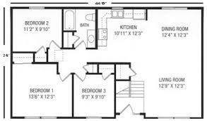 Ranch Floor Plans U And U Modular Homes Raised Ranch Floorplans
