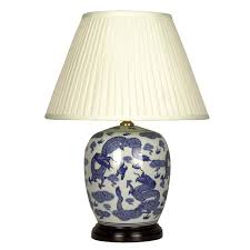 Oriental Table Lamps Uk Oriental Table Lamps Dragon White And Blue Porcelain Table Lamp